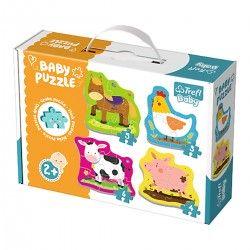 36070 TREFL BABY PUZZLE ZWIERZĘTA NA WSI