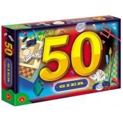 Alexander Zestaw 50 gier domino pchełki bierki