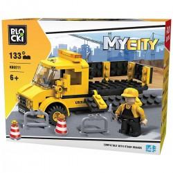 002118 KLOCKI BLOCKI ROBOTY DROGOWE 133 ELEMENTY