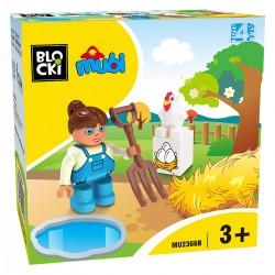 040033 KLOCKI BLOCKI MUBI FARMERKA 4 ELEMENTY