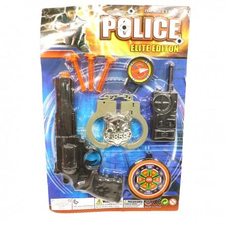 983033 ZESTAW POLICJANTA PISTOLET + AKCESORIA