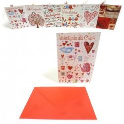 B6B KARTKA WALENTYNKOWA + KOPERTA