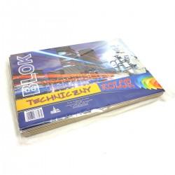 73165 BLOK TECHNICZNY KOLOROWY A4x12
