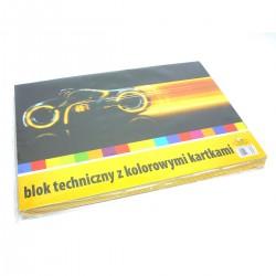 73189 BLOK TECHNICZNY KOLOROWY A3