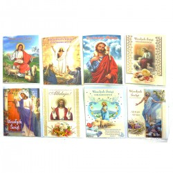 B6B KARTKA LAURKA WIELKANOCNA Z BROKATEM + KOPERTA