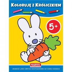944009 MARTEL KOLOROWANKA KOLORUJĘ Z KRÓLICZKIEM 5+