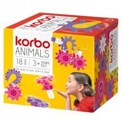 455393 KORBO KLOCKI 18 ANIMALS