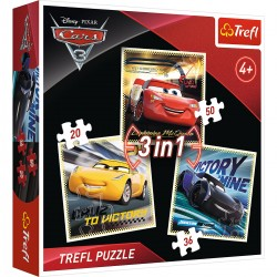 34820 TREFL PUZZLE 3W1 CARS 3