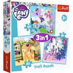 34843 TREFL PUZZLE 3W1 MY LITTLE PONY MAGIA PRZYJAŹNI