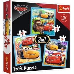 34845 TREFL PUZZLE 3W1 CARS 3