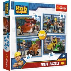 34270 TREFL PUZZLE 4W1 BOB BUDOWNICZY