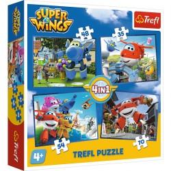 34280 TREFL PUZZLE 4W1 SUPER WINGS ODLOTOWA PACZKA