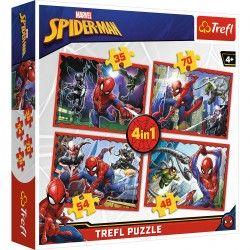 34293 TREFL PUZZLE 4W1 W SIECI SPIDER-MANA