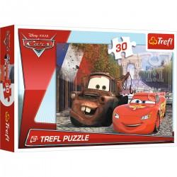18206 TREFL PUZZLE 30 EL. CARS 3 ZYGZAK W EUROPIE