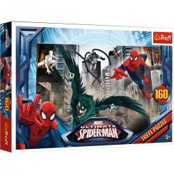 15319 TREFL PUZZLE 160 EL. SPIDER-MAN W POGONI ZA ZŁOCZYŃCĄ