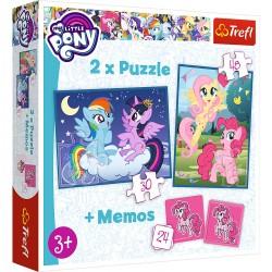 90601 TREFL PUZZLE 2W1 + MEMOS MY LITTLE PONY PRZYJAŹŃ TO MAGIA