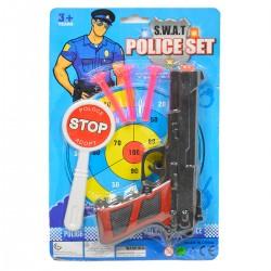 736681 ZESTAW POLICYJNY PISTOLET NA STRZAŁKI + AKCESORIA