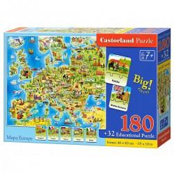 000227 CASTORLAND PUZZLE MAPA EUROPY
