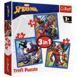 34841 TREFL PUZZLE 3W1 SPIDER-MAN NA RATUNEK