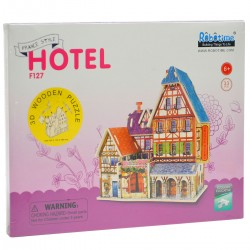 104745 KLOCKI PUZZLE 3D HOTEL 33EL.