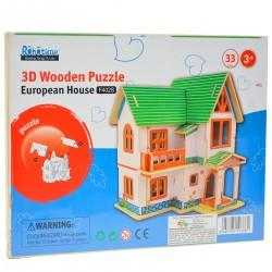 103861 KLOCKI PUZZLE 3D EUROPEJSKI DOM 33EL.