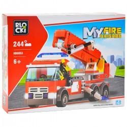 680808 KLOCKI BLOCKI MY FIRE BRIGADE WÓZ STRAŻACKI