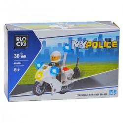180805 KLOCKI BLOCKI MY CITY POLICE MOTOCYKL