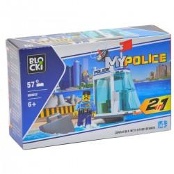 146522 KLOCKI BLOCKI MY POLICE 2W1 STRAŻ PRZYBRZEZNA