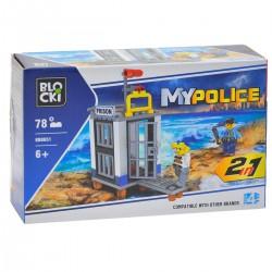 136516 KLOCKI BLOCKI MY POLICE 2W1 WIEZIENIE