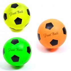 452718 PIŁKA GUMOWA FOOT BALL NEONOWE KOLORY