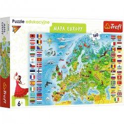 15558 TREFL PUZZLE 160 EL. MAPA EUROPY