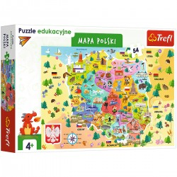 15556 TREFL PUZZLE 54 EL. MAPA POLSKI