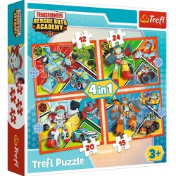 34352 TREFL PUZZLE 4W1 TRANSFORMERS