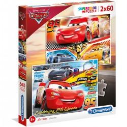 071319 CLEMENTONI PUZZLE 2X60 EL CARS