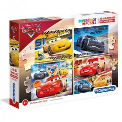 077144 CLEMENTONI PUZZLE 4W1 CARS