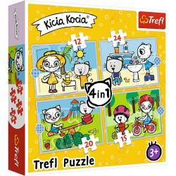 34372 TREFL PUZZLE 4W1 KICIA KOCIA
