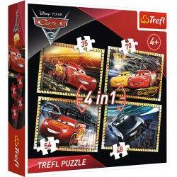 34276 TREFL PUZZLE 4W1 CARS