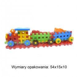 25777 KLOCKI POCIĄG Z WAGONAMI + 2 ZWIERZĘTA KLOCKI WAFLE