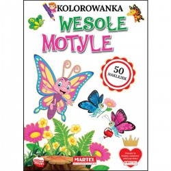 330979 MARTEL KOLOROWANKA WESOŁE MOTYLE
