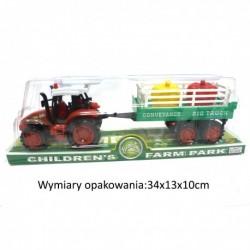10379 TRAKTOR FARMERA Z PRZYCZEPĄ + 2 WARZYWA