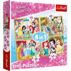 34309 TREFL PUZZLE 4W1 KSIĘŻNICZKI