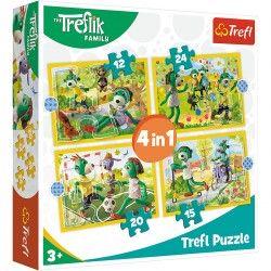 34358 TREFL PUZZLE 4W1 WSPÓLNE ZABAWY TREFLIKI