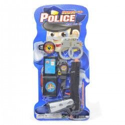 967815 ZESTAW POLICJANTA ODZNAKA BROŃ KAJDANKI