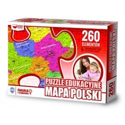 906944 PUZZLE EDUKACYJNE MAPA POLSKI