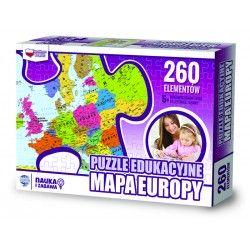 907149 PUZZLE EDUKACYJNE MAPA EUROPY