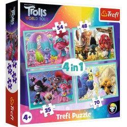 34336 TREFL PUZZLE 4W1 TROLLE
