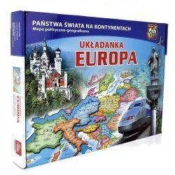 049012 UKŁADANKA PUZZLE MAPA EUROPY
