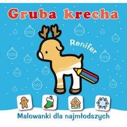071542 KOLOROWANKA GRUBA KRECHA RENIFER